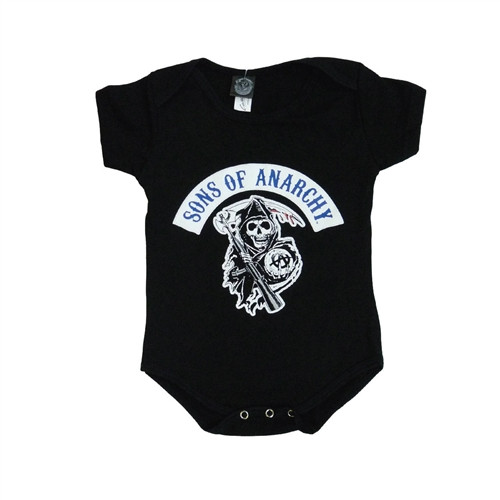 708692549 Sons of Anarchy Onesie SOA logo creeper - Hollywood Filane