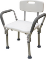 Roscoe Shower Chair with Back and Padded Armrests