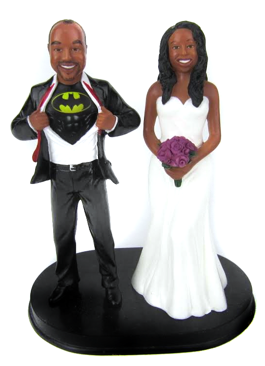 African American Custom Wedding Cake Toppers