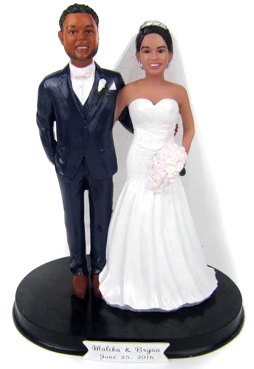 Custom painted wedding cake toppers