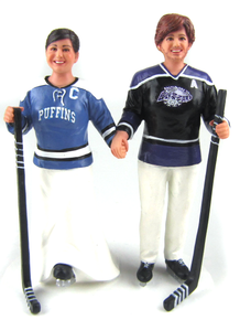 hockey player wedding cake topper hockey wedding cake toppers custom and personalized 15259