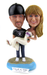 Custom T-Shirt Groom and Beach Bride Cake Topper
