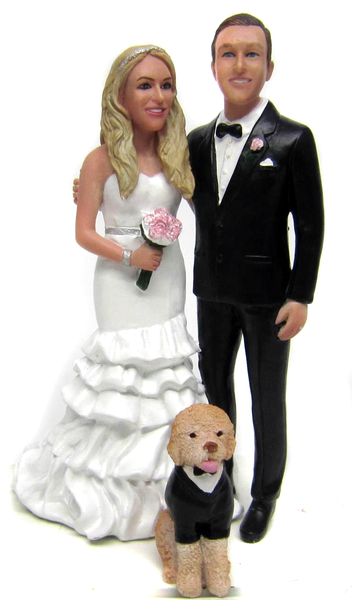 Custom Modern Treasures Wedding Cake Toppers