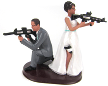Custom Armed Couple Cake Topper Style 2