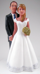 Custom Belle of the Ball Cake Topper Style 2