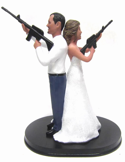 Custom Mr. and Mrs. Smith Cake Toppers Style 4 wedding cake topper
