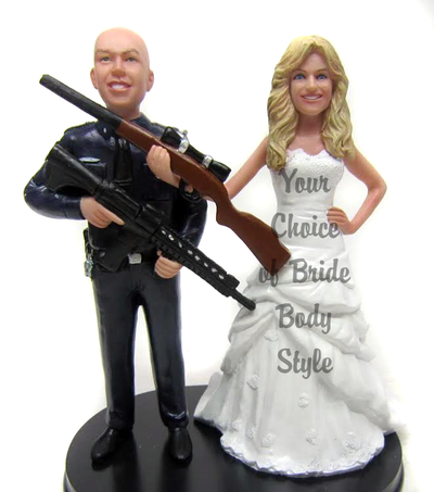 Police Officer Groom Cake Topper Figurine