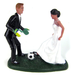 Custom Soccer Players Wedding Cake Topper