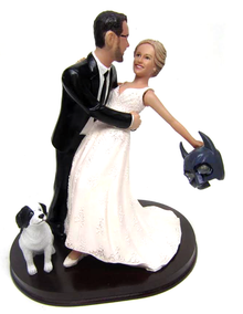 Custom Bride Removes Batman Mask Wedding Cake Topper