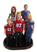 Sports blended family cake topper