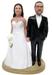 Full Figure Bride and Husky Groom Cake Topper