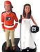 Philadelphia Flyers hockey wedding cake topper