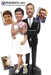 Custom wedding cake toppers are sculpted to look like you!