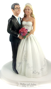 Fairytale Romance Wedding Cake Topper
