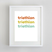 Sport Art Triathlon Love 12 x 16