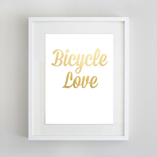 Sport Art Bicycle Love 12 x 16