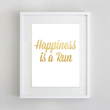 Sport Art Happiness is a Run 12 x 16