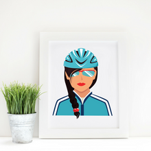 Sport Art Cool Cyclist 12 x 16