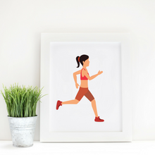 Sport Art Girl Runner 12 x 16
