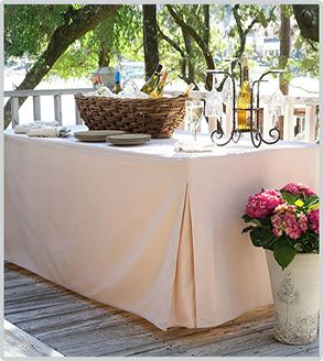 Tablevogue's fitted table cover for all of your serving purposes
