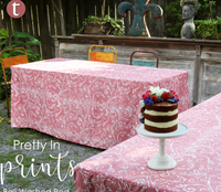 "You've got great taste! The fresh feel mimics your favorite poplin cotton top. The new weight is celebration ready straight out of the bag. Wash and reuse for celebrations, home decor or to enhance a special professional event. Our versatile 34"" card table cover is perfect for game night, a bar setup, or a romantic dinner for two - the possibilities are endless! Inverted box pleats offer a tailored look while providing ""give"" and offering ample leg room. Bali, leaves the wash with only minimal air drying time."