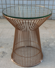 Replica Warren Platner Lamp/Side Table-rose gold frame