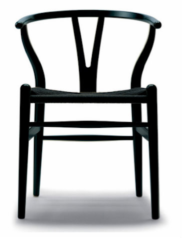 Stainless Steel Black Powdercoated Replica Wishbone Chair with Black Cord  sc 1 st  Stools u0026 Chairs & Replica Wegner Wishbone Chair - Powdercoated Matte Black - $169
