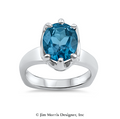 Swiss Blue Topaz Ring