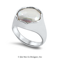 Flat Pearl Ring