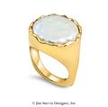 Flat Pearl Ring - 14k