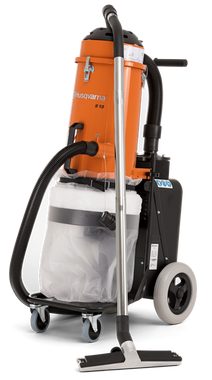 """S 13 is a quiet-operating single-phase HEPA dust collector to match the power cutter Husqvarna K 3000, hand held grinders, small grinders 5-7"""", small scarifiers and drywall sanders. This professional dust extractor is an all-around construction vacuum for picking-up a wide range of building materials and debris."""