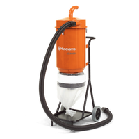 C 3000 is an effective industrial pre-separator for really big jobs where a lot of dust is produced. Recommended as a supplement to your Husqvarna dust extractor S 26 and S 36. C 3000 separates 90% of the vacuumed material before it reaches the dust extractor, which greatly increases the suction capacity, extends motor life and significantly reduces the frequency of filter maintenance