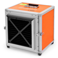 A 600 is one of the most advanced portable air cleaners available on the market. It is tested and certified for use as both an air cleaners and a negative air machine. Thanks to a reliable filter system and a design that is perfectly matched to operation with HEPA class H13 filters, that are tested and certified at an efficiency rate of 99.99% at 0.3 microns, the air cleaner puts out superior air quality – be it when dealing with concrete dust,