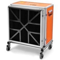 A 1200 is one of the most advanced portable air cleaners available on the market. It is tested and certified for use as both an air cleaner and a negative air machine. Thanks to a reliable filter system and a design that is perfectly matched to operation with HEPA class H13 filters, that are tested and certified at an efficiency rate of 99.99% at 0.3 microns, the air cleaner puts out superior air quality – be it when dealing with concrete dust