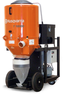 T 18000 is an effective industrial dust collector to match the highly productive Dual Drive Technology™ grinding machines Husqvarna PG 820 RC, PG 820, PG 680 RC, PG 680 as well as shavers, shot blasters and saws. Ideal for heavy-duty work and exacting demands on dust extraction.