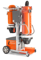 DC 6000 is an effective industrial dust collector to match the highly productive Dual Drive Technology™ grinding machines Husqvarna PG 820, PG 680 and PG 530 3-phase. DC 6000 is developed with unique double shell cyclone technology and automatic filter cleaning.