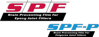 SPF is a water based single component film forming liquid intended for use in the protection of concrete slab surfaces against staining which can result from epoxy joint filler overfill. SPF is water soluble and can be easily removed after joint filler installation is completed.  SPF-P will prevent staining in most polyurea fillers