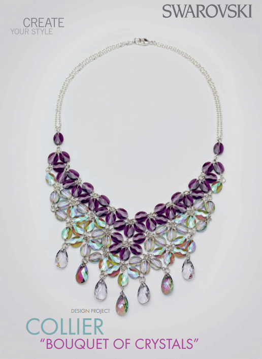 DIY Swarovski Crystal Necklace Free Design and Instructions