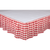 Annie Buffalo Red Check Bed Skirt
