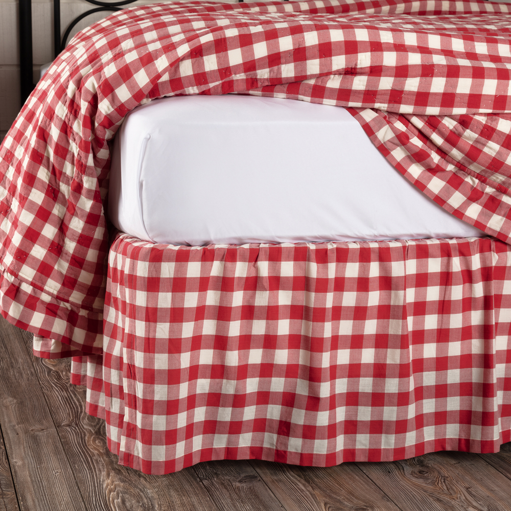 Annie Buffalo Red Check Bed Skirt By Vhc Brands