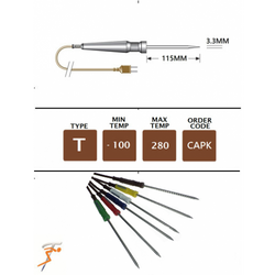 CAPK Type T Set of 6 x Colour Coded T Type Needle Probes For CA2005 Thermometer