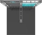 Top view of 10'x10' Pluto Truss Trade Show Kit. Make a statement at the next trade show or event!