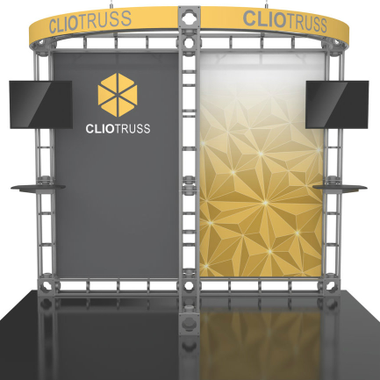 10'x10' Clio Truss Trade Show Kit. Make a statement at the next trade show or event!