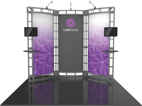 10'x10' Lynx Truss Trade Show Kit. Make a statement at the next trade show or event!