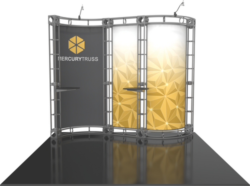 10'x10' Mercury Truss Trade Show Kit. Make a statement at the next trade show or event!