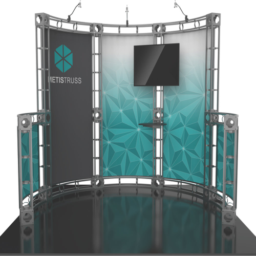 10'x10' Metis Truss Trade Show Kit. Make a statement at the next trade show or event!