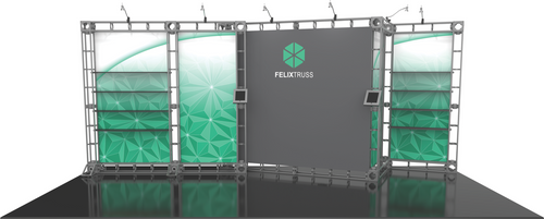 10'x20' Felix Truss Trade Show Kit. Make a statement at the next trade show or event!