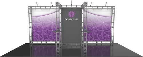 10'x20' Saturn Truss Trade Show Kit. Make a statement at the next trade show or event!