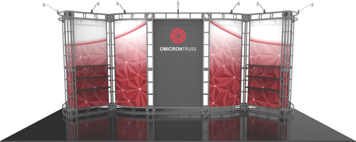 10'x20' Omicron Truss Trade Show Kit. Make a statement at the next trade show or event!