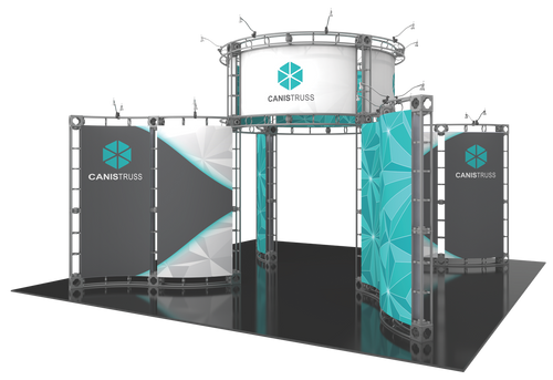 20'x20' Canis Truss Trade Show Kit. Make a statement at the next trade show or event!